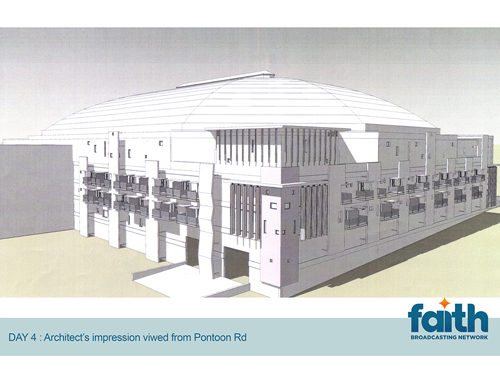 Architect's impression viewed from Pontoon Road