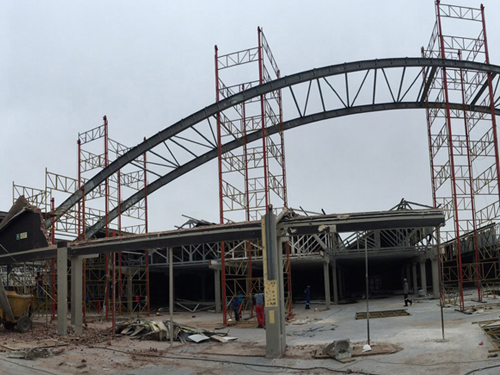 Panoramic view of the Roof structure
