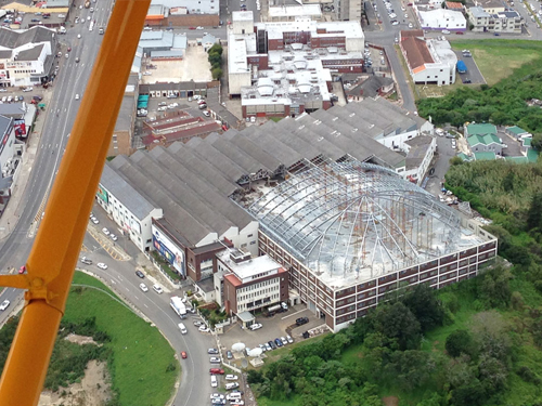 The roof construction - a bird's eye view