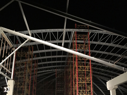 The structure at night