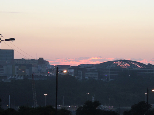 Sunrise over the dome